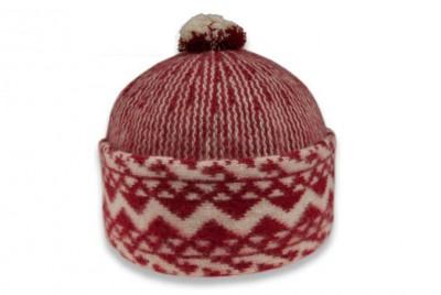 Čepice Triton pletená - zmijovka červená  2344c259e4